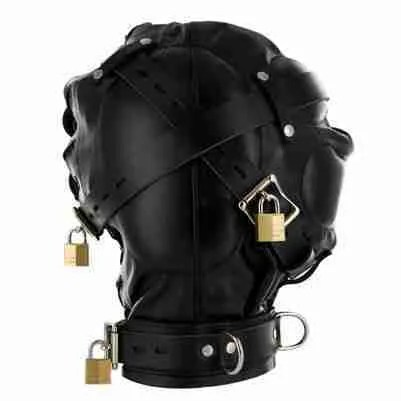 Strict Leather Sensory Deprivation Hood 2