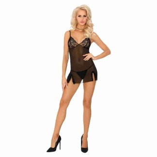 Corsetti Mokiniann Black Chemise And Thong 1