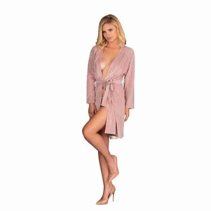 Corsetti Mikiss Dressing Gown Pink 1