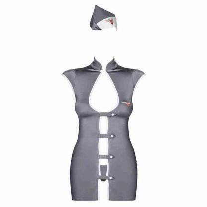 Obsessive Grey Stewardess Costume 3