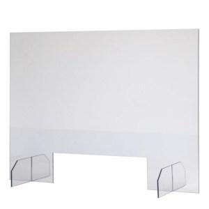 Spuckschutzwand aus Acrylglas mit Durchreiche