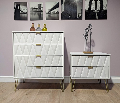 diamond bedroom furniture in white with