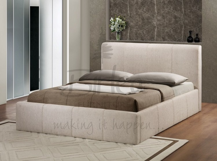 Birlea Brooklyn Wheat Fabric 4ft Small Double Ottoman Bed