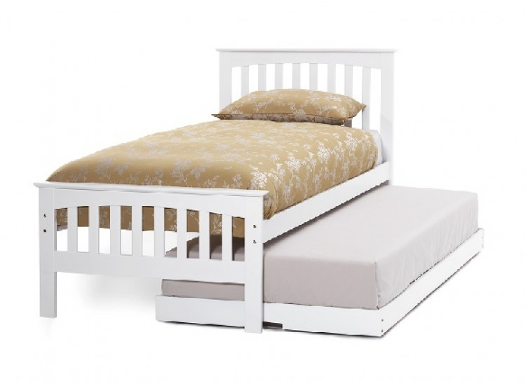 Serene Amelia 3ft Single White Wooden Guest Bed Frame By