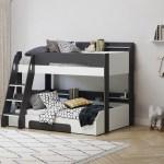 Flair Flick Triple Sleeper Bunk Bed Grey