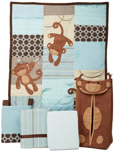 Fun and Colorful Boys Monkey Crib Bedding & Decor