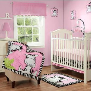 I Luv Zebra Crib Bedding by Baby Boom