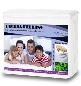 Utopia Bedding Premium Hypoallergenic Waterproof Mattress Protector