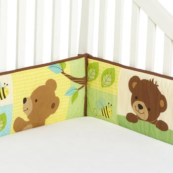 Bedtime Originals Honey Bear 4 Piece Bumper