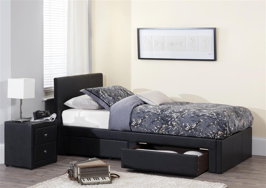 Serene Latino Faux Leather Bed Frame