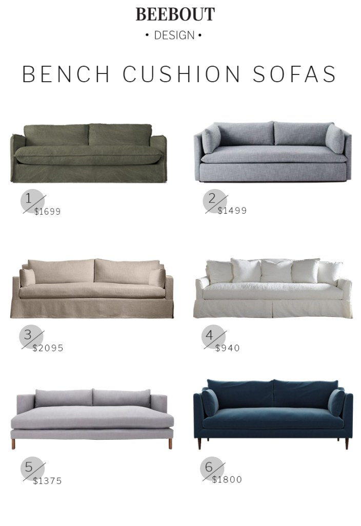 Bench Cushion Sofa Roundup | Beebout Design