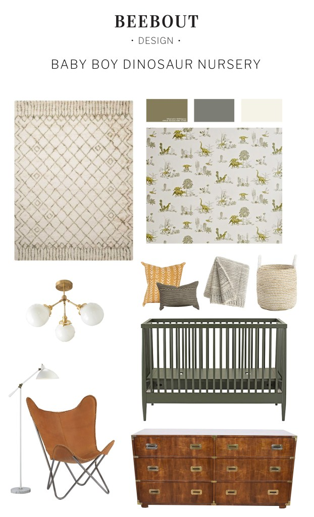 Nursery design plans by Beebout Designs for the Fall 2017 One Room Challenge