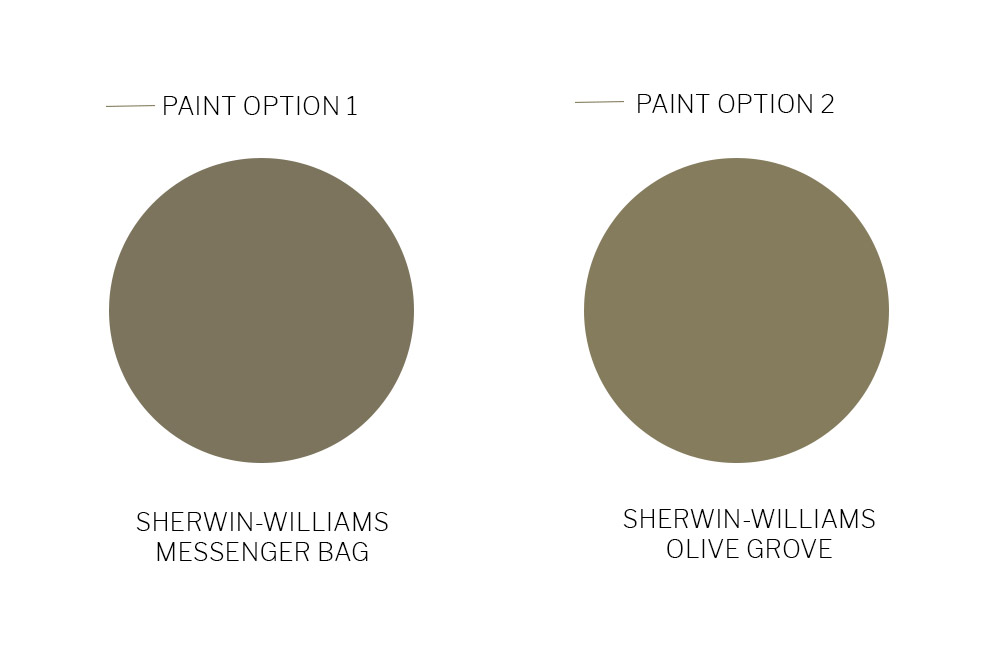 Sherwin-Willaims Green Paint Color Selections for One Room Challenge Week 2 by Beebout Design