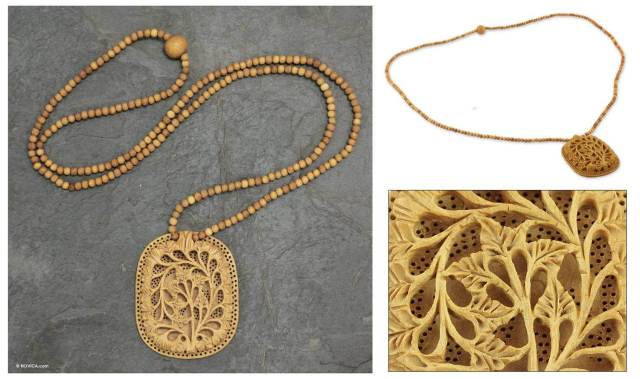 handcrafted-eco-friendly-indian-wood-flower-necklace