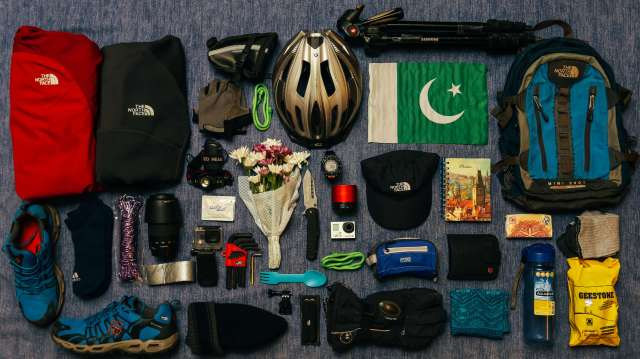 pack light for your eco travel cycling