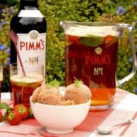 Pimm's sorbet