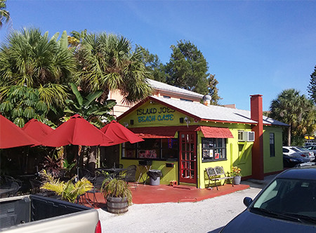 Island Joe's is a small building that's set back and easy to miss.
