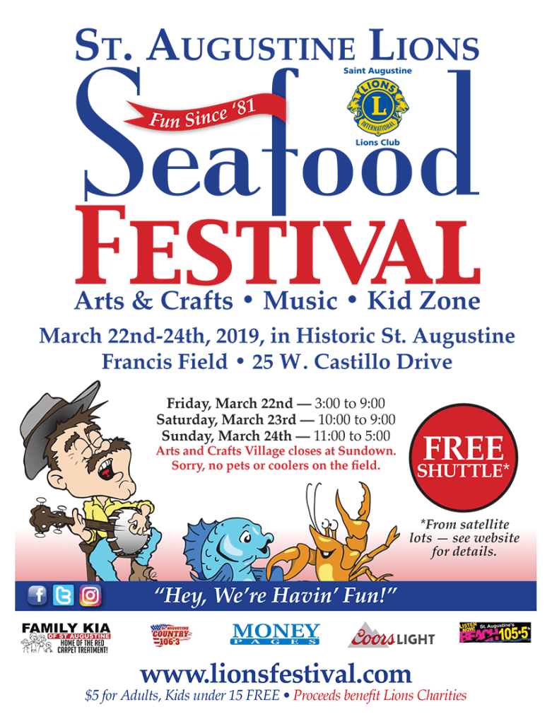 Flyer for Lions Seafood Festival