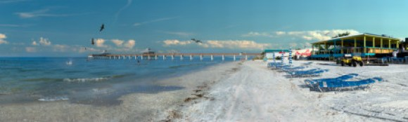 Gigapan image of Fort Myers Beach Fishing Pier