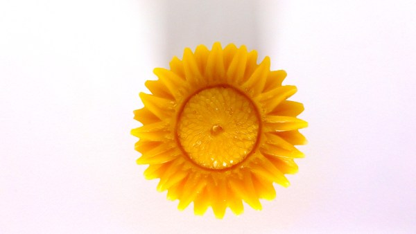 A Beeswax Sunflower from beeswax from my hives. #BeehiveYourself, #WantageHoney, #Beeswax, Beehive Yourself,