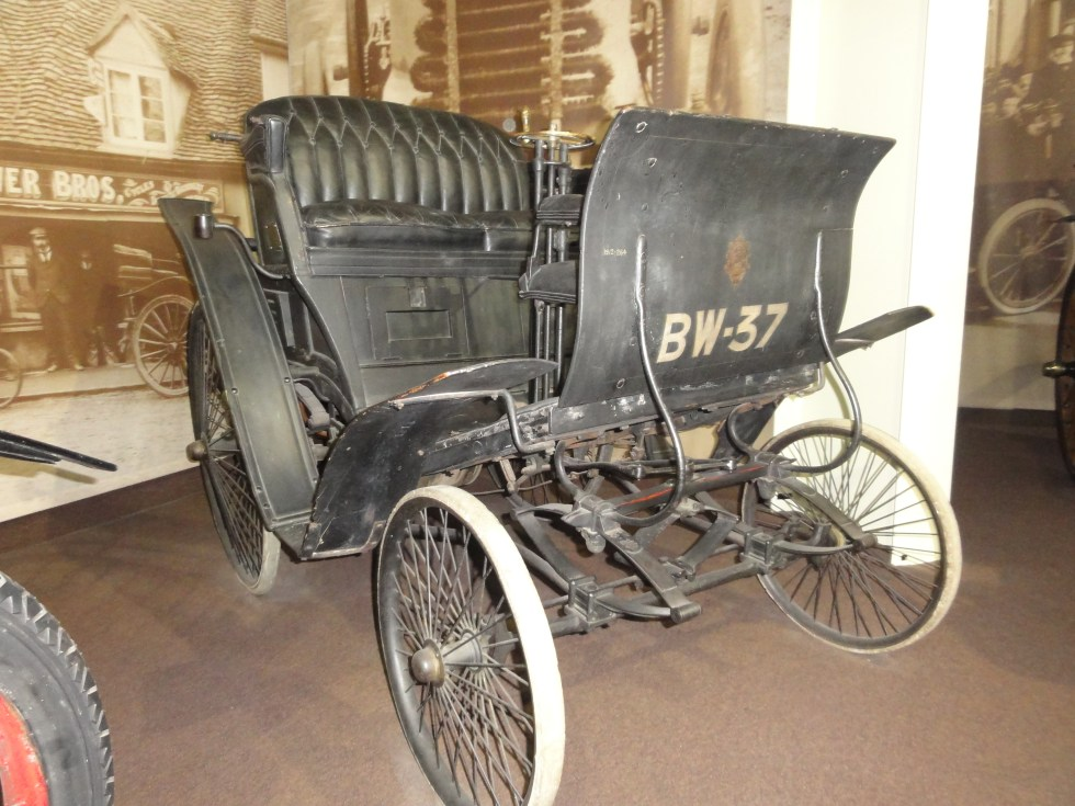 Mr Woodley's car - Benz Velo - now on display at the National Motor Museum at Beaulieu. It still has its original number plate - 'BW-37.' #WilliamWoodley, #Beedon, #BenzVelo,