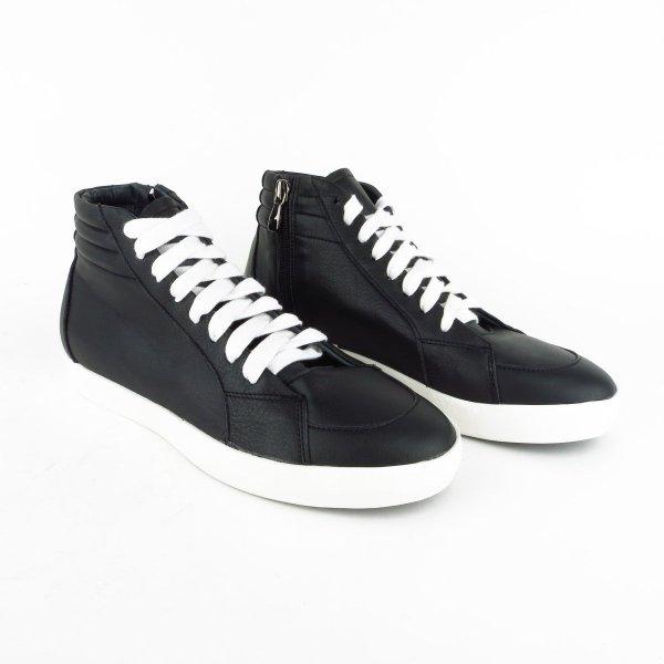 Sneakers alte in vera pelle