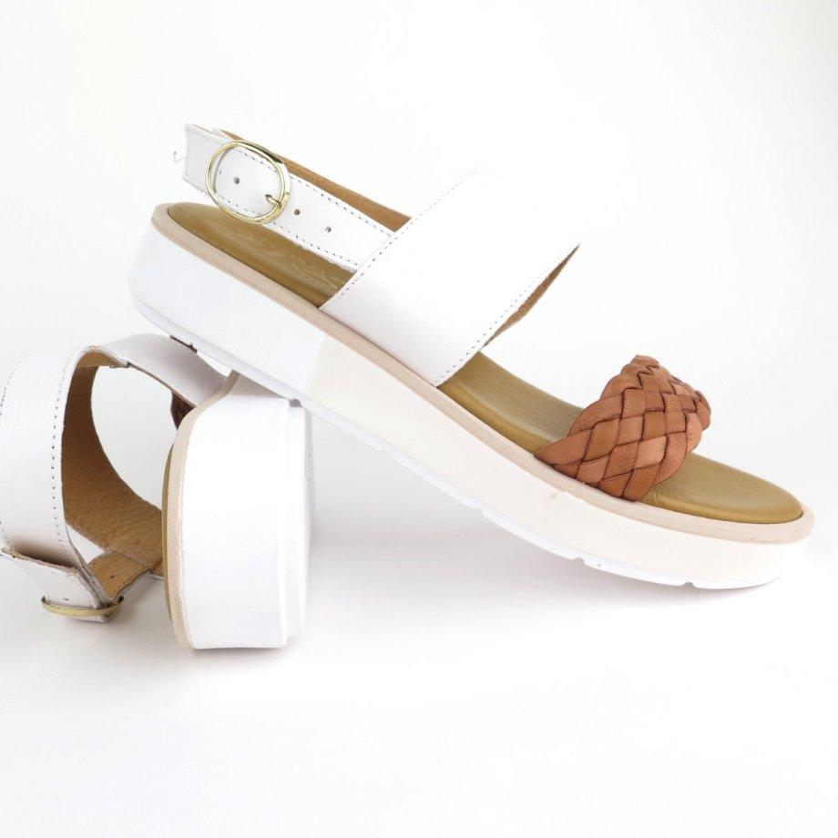 Sandali fondo rialzato in vera pelle