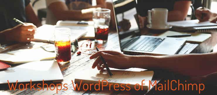 workshop over WordPress of MailChimp
