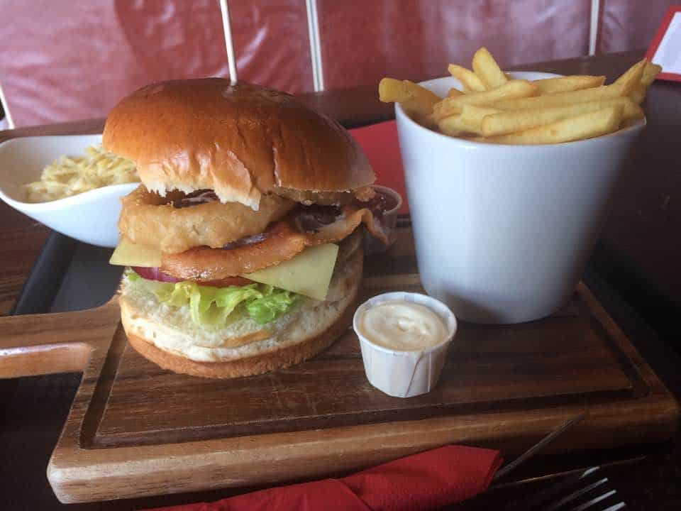burger and chips free when mystery shopping