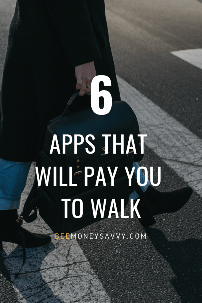 "text: ""6 apps that will pay you to walk"" image: walking person"