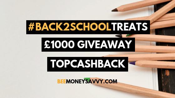 TopCashback: #Back2SchoolTreats £1000 Giveaway
