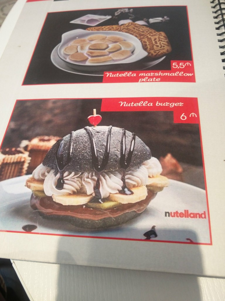 nutella burger nutelland baku