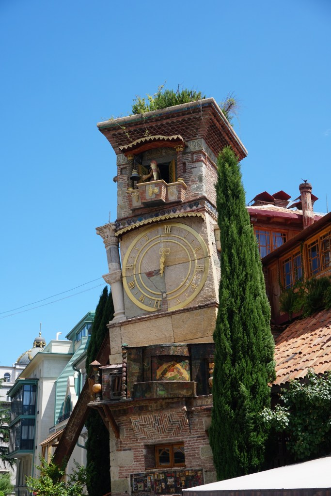 the leaning clock tower tbilisi