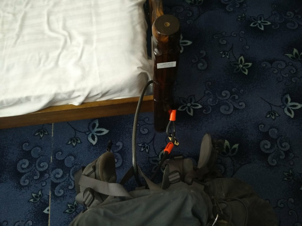 cable lock backpack hostel