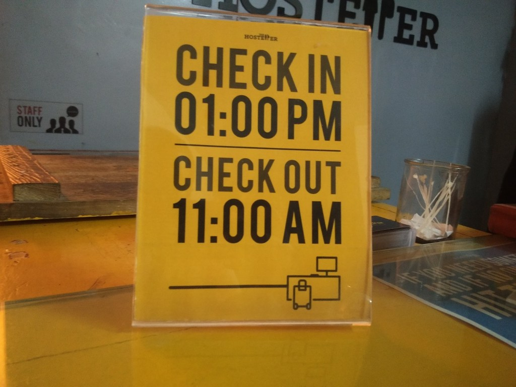 check in check out hostel