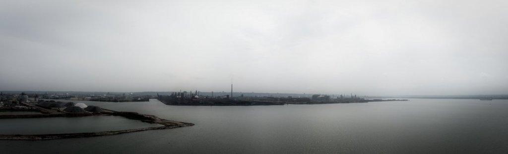 Hamilton Harbour Panorama in B&W