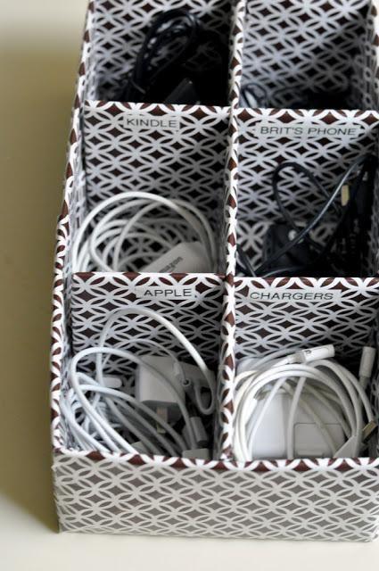ranger cables et chargeurs