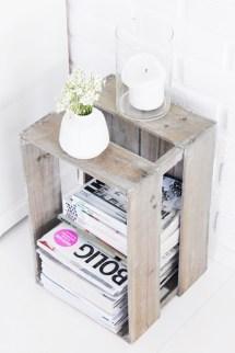ranger ses magazines dans une vieille caisse