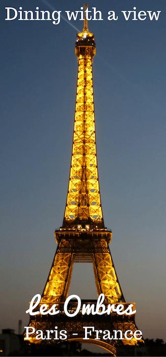 Dinner View Eiffel Tower
