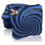 Blue Spiral Set of 4 Beer Belly Bags Performance Cornhole Bags