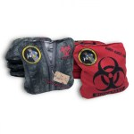 Black Body & Red BioHazard Body Bagz Set of 8 Beer Belly Bags Performance Cornhole Bags