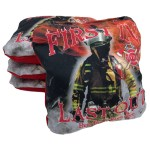 Fireman Set of 4 Beer Belly Bags Performance Cornhole Bags
