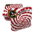 Red Stars & Stripes Set of 4 Beer Belly Bags Performance Cornhole Bags