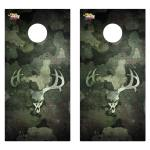 Camo Deer Skull Premium Cornhole Board Wrap Set of 2