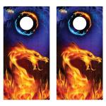 Fire Dragon Premium Cornhole Board Wrap Set of 2