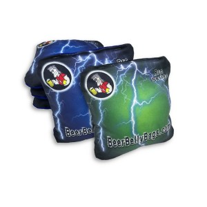 Green & Blue Lightning Pro Series Set of 8 Beer Belly Bags Performance Bags