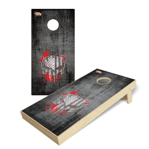 Red Skull Premium Cornhole Board Wrap Set of 2