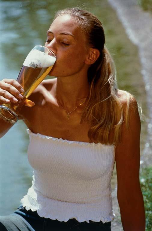 Girl Drinking A Beer Beer Helps