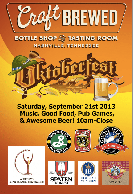 craft brewed octoberfest