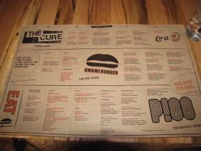 Umami-catessen menu